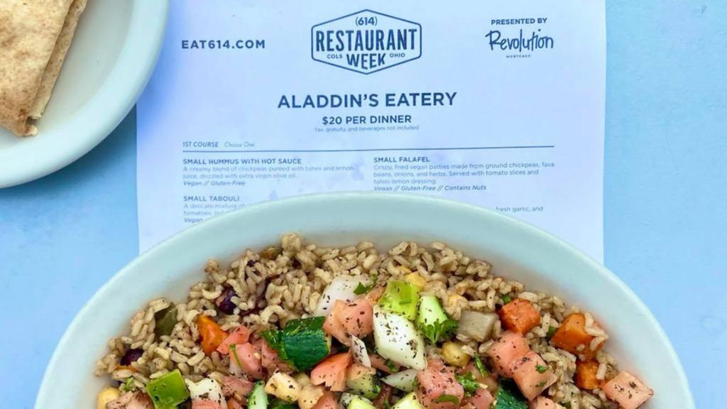 Aladdin's Eatery Columbus Restaurant Week